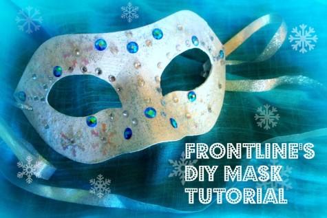 Exclusive DIY Winter Formal Mask Tutorial