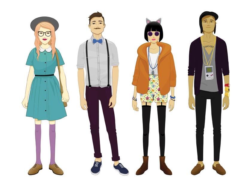 Hipsters trending frontline Indie fashion style definition
