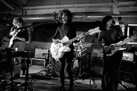 Adam Smith, James Bagshaw, and Thomas Warmsley of 2014 debut band Temples