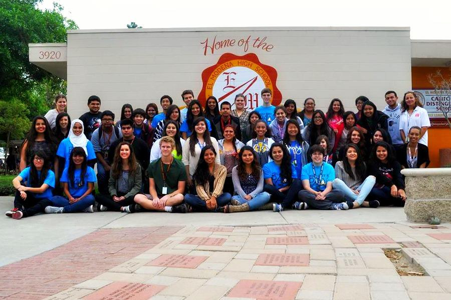 The 2014-2015 El Mo PAL club members smile for the camera