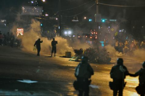 Militarized police in Ferguson, MO