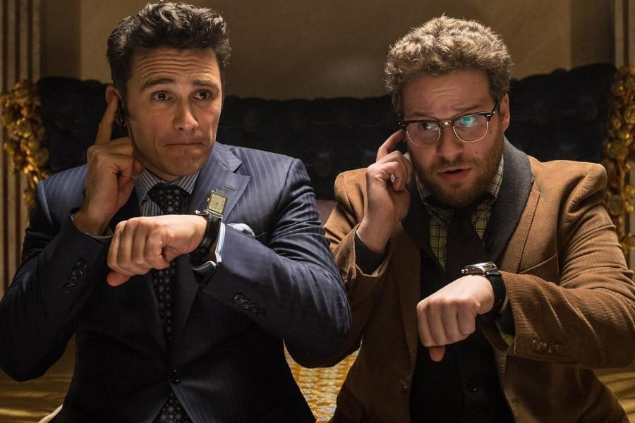 Franco (left) and Rogen (right) play TV journalists assigned to assassinate Kim Jong-Un