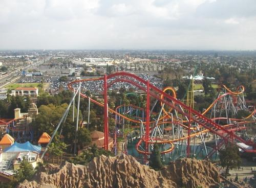 An aerial view of the park