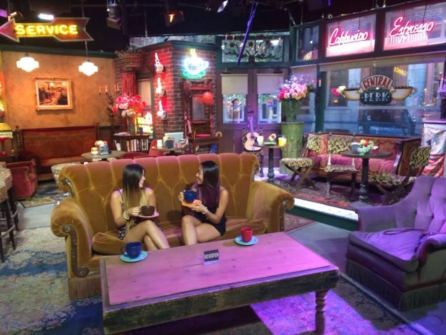 Best Friends: The Central Perk Cafe set at Warner Bros. Studios.