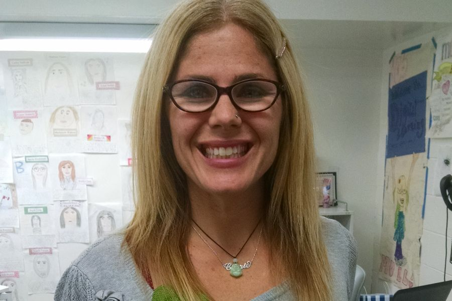 Ms. Mull smiles brightly for Frontline