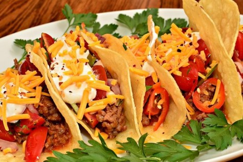 Tasty Tacos: The October luncheon served carnitas tacos for Student of the Month.