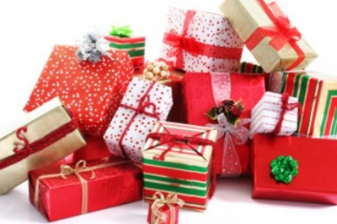 Christmas presents pile up during the shopping season