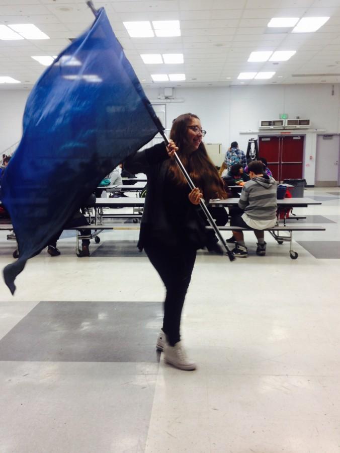 Sophomore+Erika+Diaz+practices+her+routine
