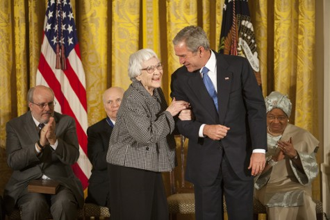 President George W. Bush awards Lee with the Presidential Medal of Freedom in 2007