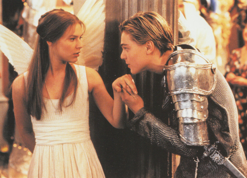Leonardo+DiCaprio+and+Clare+Danes+star+in+%22Romeo+%2B+Juliet%22.