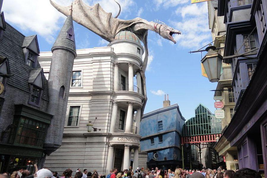 Making My Way Down Town: Diagon Alley in Orlando, Florida.