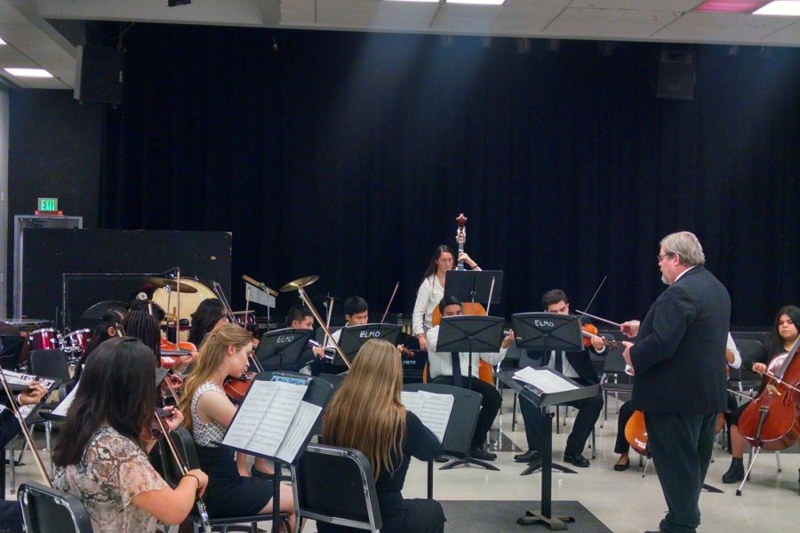 Mr. Glahn directs the String Orchestra during the 2016 Spring Concert