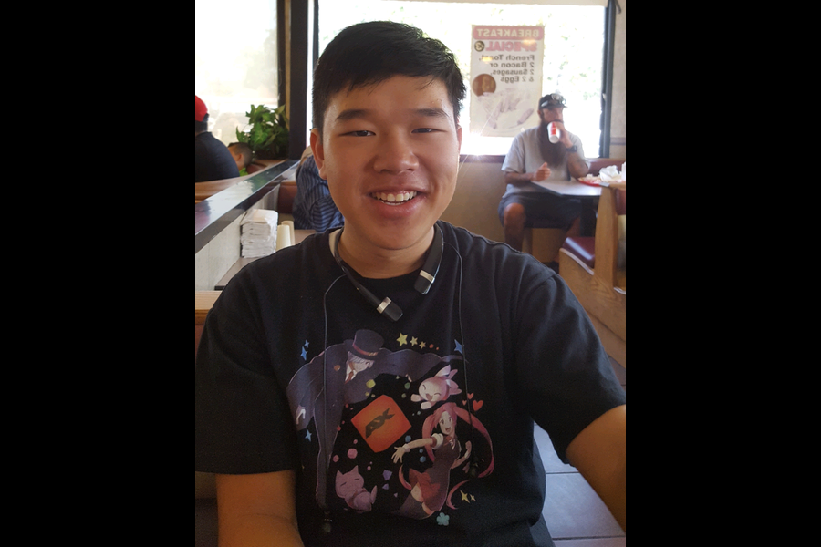 Kevin Nguyen sits down at Omega Burger in the Orange Circle for an interview.