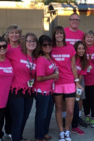 El Modena Staff poses at last year's Walk for the Cure