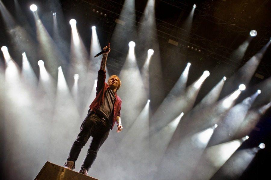 Ed Sheeran at concert circa 2014