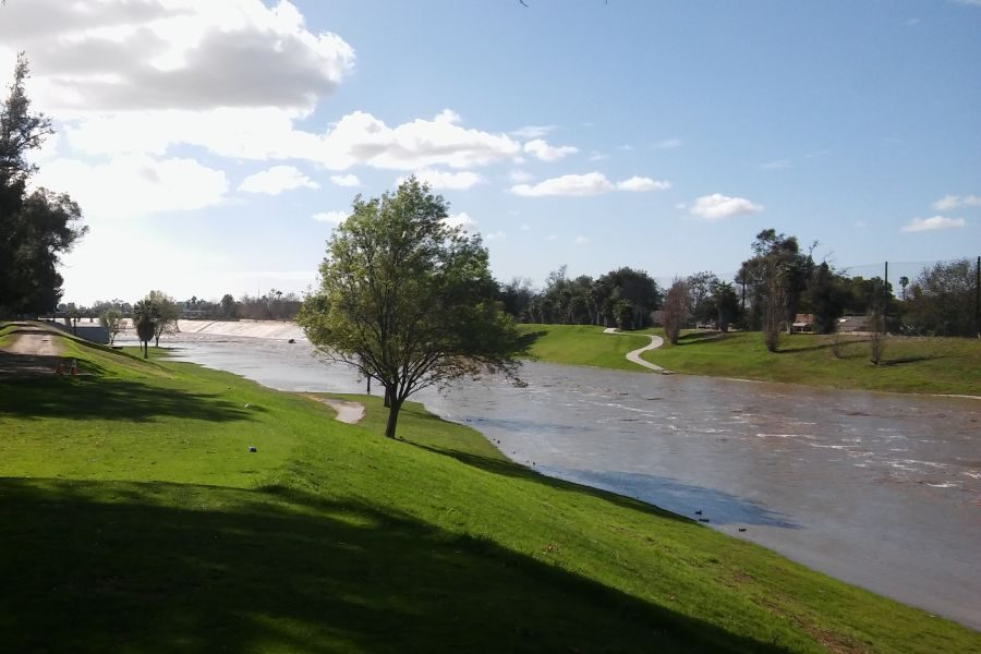 A River Runs Through It: While not this beautiful on Monday, Riverview golf course had its namesake feature.