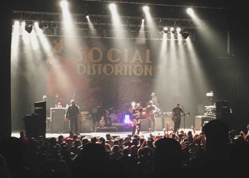 Social Distortion composed of Mike Ness, Jonny Wickersham, Brent Harding, David Hidalgo Jr., and David Kalish.