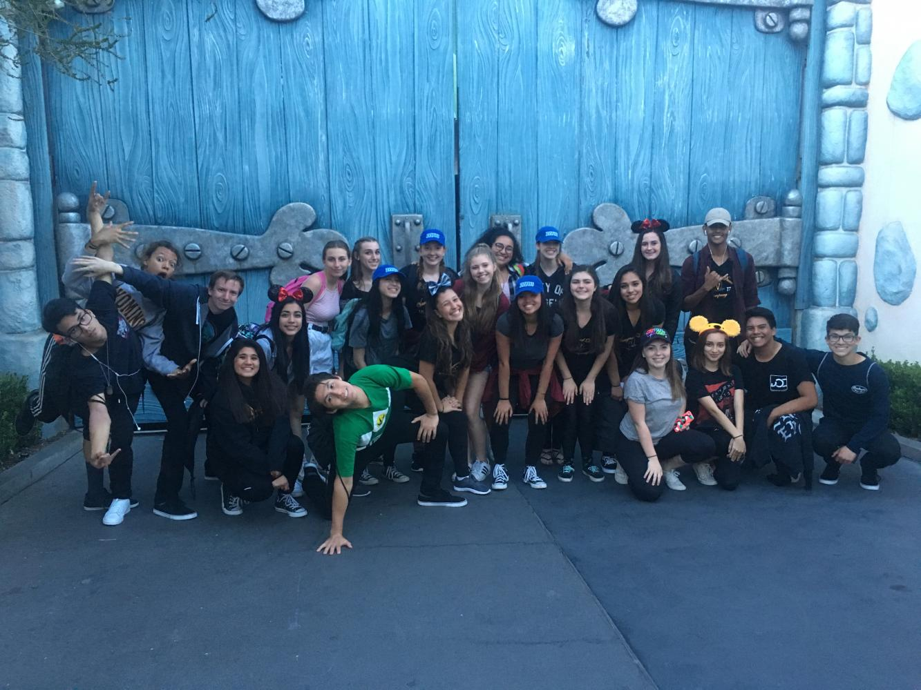 VDC and VC at Disneyland: (left to right) Kyle P., Justis Pearce, Dorian McHenry, Kayle Solis, Donna Gaytan, Francisco Flores, Julia Atkinson, Sophia Pracillio, Hayley Hoey, Mia Vasquez, Megan Formancowiz, Avery Miles, Kaylee Nguyen, Isabella Perez, Vanessa Carroll, Lilia Bour, Kate Ayala, Alyssa Farnsworth, Ashley Ramynke, Stela Martinez, Christian Bernard, Israel Rios, and Troy Nishimoto.