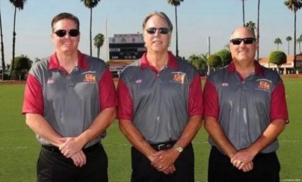 Scott Carroll, Bob Ruddy, and Bob Doerr supporting El Modena Football