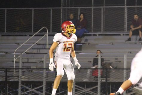 Senior TE/ILB, #12 Josh Smith, playing at the Segerstrom Game