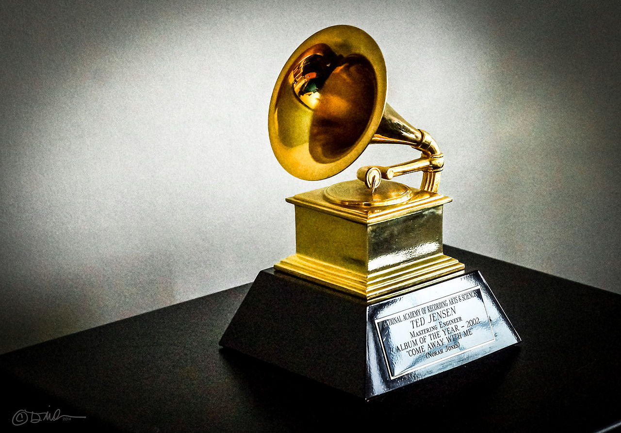 Ted Jensen's 2002 Grammy (Photo via Wikimedia Commons under the Creative Commons License).