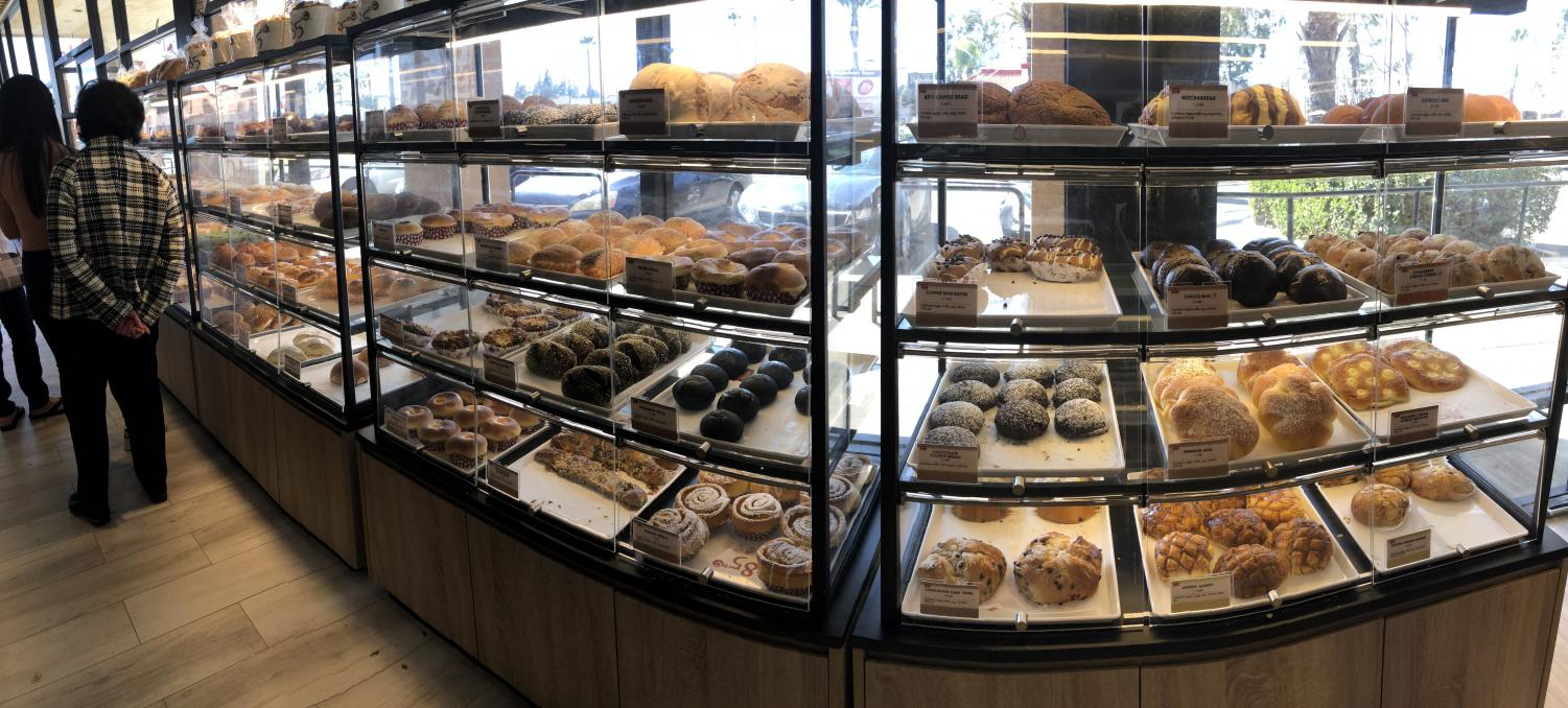 One of 85°s pastry filled glass cases