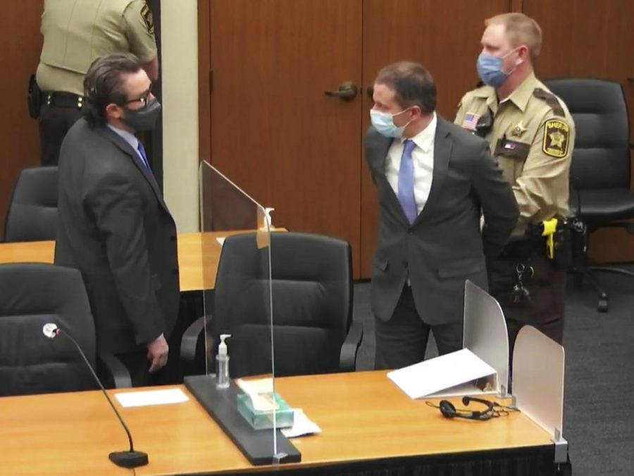 Defense attorney Eric Nelson shares an exchange with Derek Chauvin, following the jury's guilty verdict